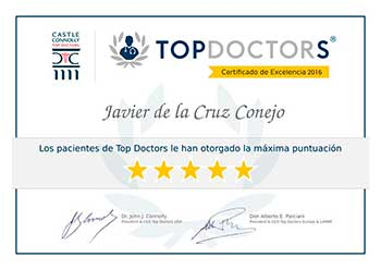 diploma Top Doctors Dr. Javier de la Cruz BORDONCLINIC