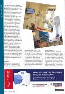 ENTREVISTA AL DR. DE LA CRUZ EN THE DENTIST UK Pagina 2
