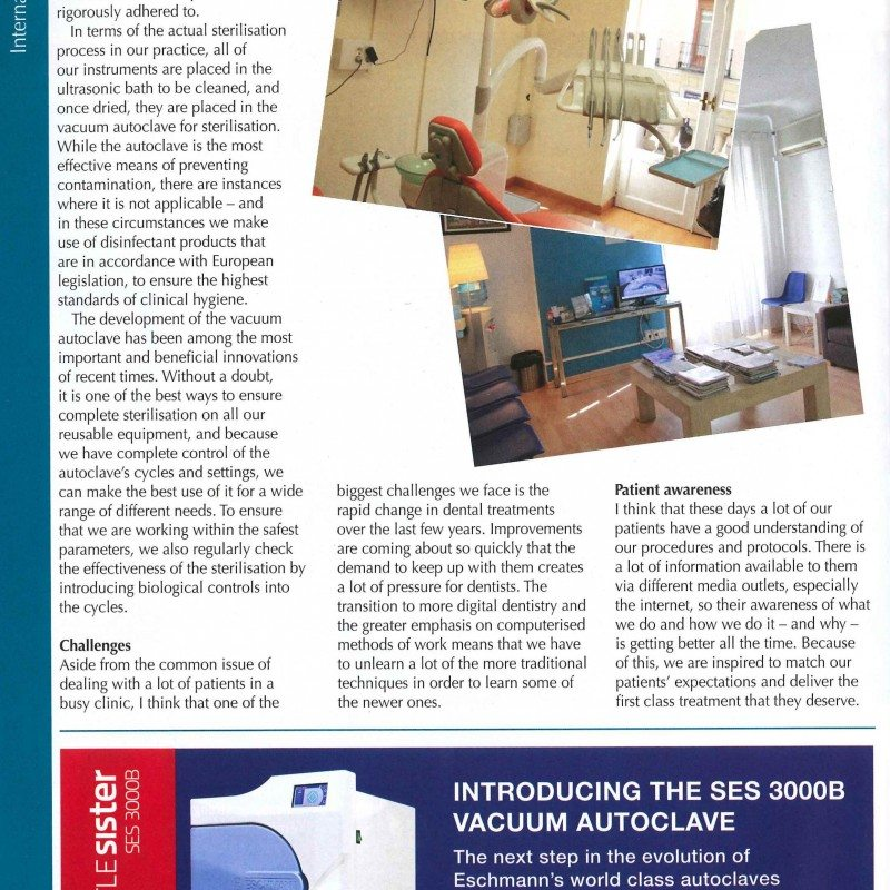 ENTREVISTA AL DR. DE LA CRUZ EN THE DENTIST UK Pagina 2