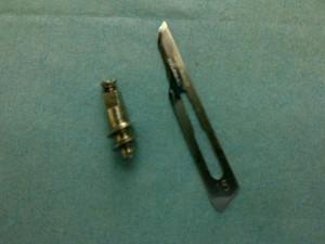 Retirada de implante fracturado dentro del hueso.